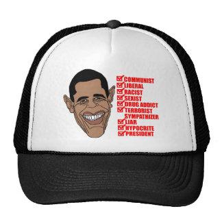 Barack Hussein Obama's List of Qualifications Trucker Hats