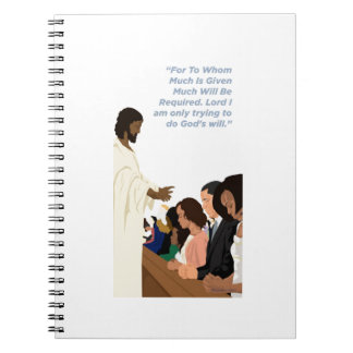 Barack Jesus Products Spiral Note Books