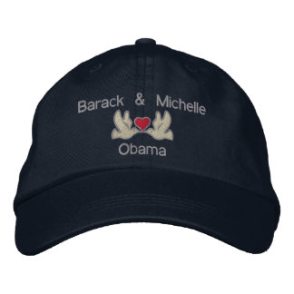 "Barack & Michelle ""Lovebirds"" Embroidered Hats"