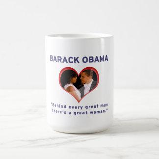 Barack & Michelle Obama Basic White Mug