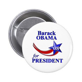 Barack Obama 08 6 Cm Round Badge