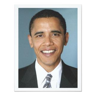 Barack Obama 11 Cm X 14 Cm Invitation Card