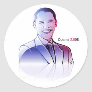 Barack Obama 2008 Stickers Round Sticker