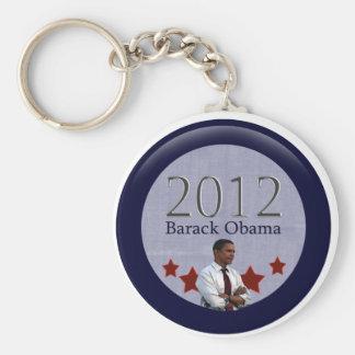 Barack Obama 2012 Presidential Election Basic Round Button Key Ring