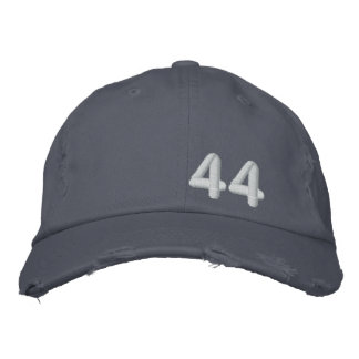 Barack Obama 44th President Blue Destroyed Embroidered Hat