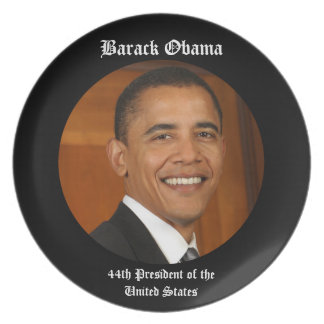 Barack Obama 44th President Keepsake Gift Plate