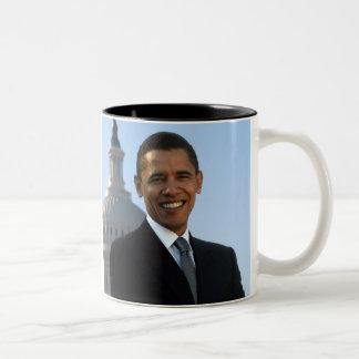 Barack Obama 44th President of the United States Two-Tone Mug