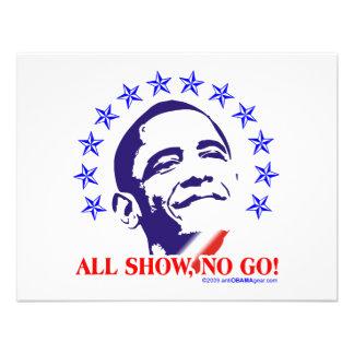 Barack Obama All Show No Go Invitations