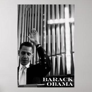 Barack Obama B&W Poster