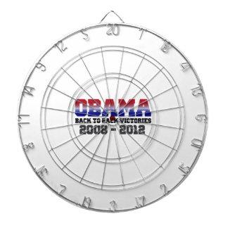 Barack Obama Back-to-Back Victory 2008 - 2012 Dartboard