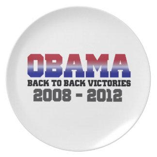 Barack Obama Back-to-Back Victory 2008 - 2012 Dinner Plates