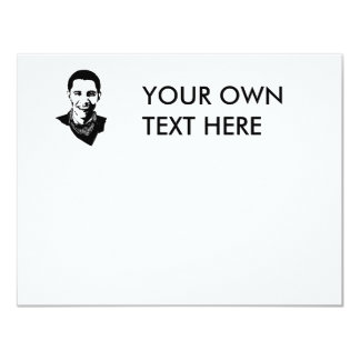 Barack Obama Bandana 11 Cm X 14 Cm Invitation Card