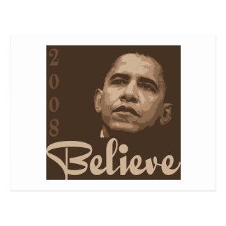 Barack Obama Believe Postcard
