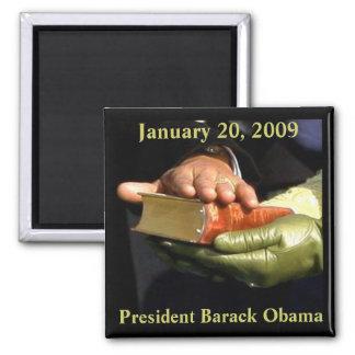 Barack Obama Bible souvenir Square Magnet