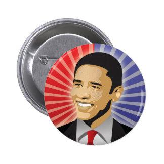 Barack Obama Bold 6 Cm Round Badge