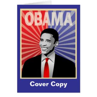Barack Obama Bold Greeting Card