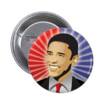 Barack Obama Bold Pinback Button