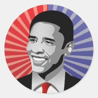 Barack Obama Bold Round Sticker
