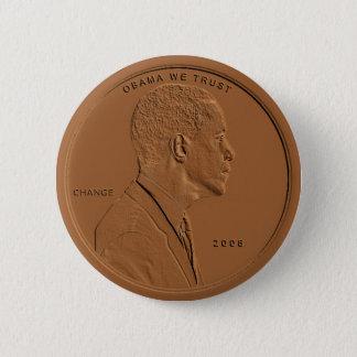Barack Obama Bronze Penny Circular Button