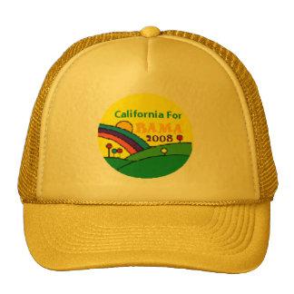 Barack Obama California Rainbow Trucker Hat