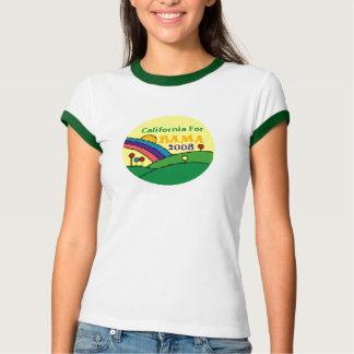 Barack Obama California Rainbow T-Shirt