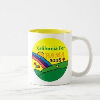Barack Obama California Rainbow Two-Tone Coffee Mug