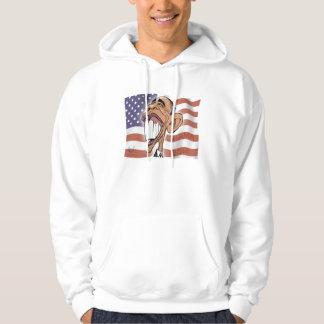 Barack Obama Cartoon Caricature Hoodie Sweatshirt
