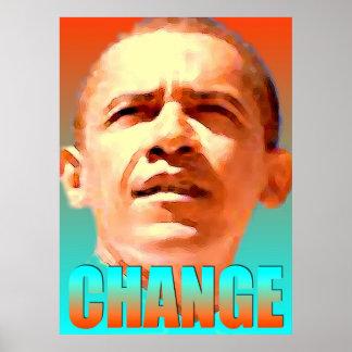 Barack Obama Change - Digital Art Print