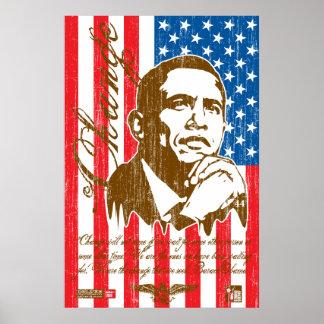 Barack Obama - Change vintage Print