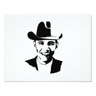 Barack Obama cowboy hat Personalized Invitations