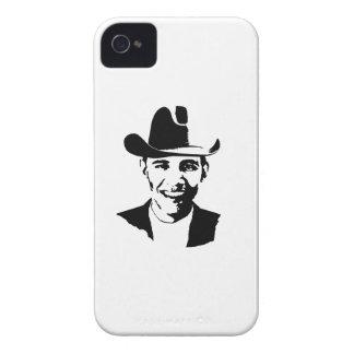 BARACK OBAMA COWBOY HAT -.png iPhone 4 Cover