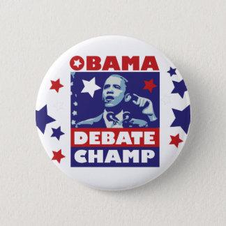 Barack Obama Debate Champion 6 Cm Round Badge