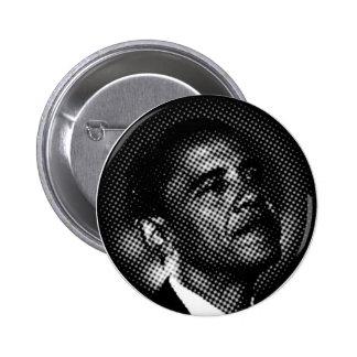 Barack Obama Dot BW Button