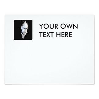 Barack Obama Face 4.25x5.5 Paper Invitation Card