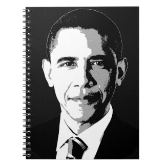 Barack Obama Face Spiral Notebook