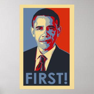 Barack Obama FIRST! Poster