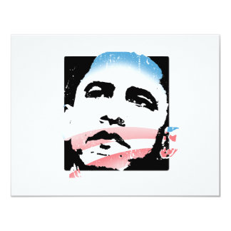 "Barack Obama for Hope T-shirt 4.25"" X 5.5"" Invitation Card"