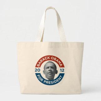Barack Obama For President 2012 Jumbo Tote Bag