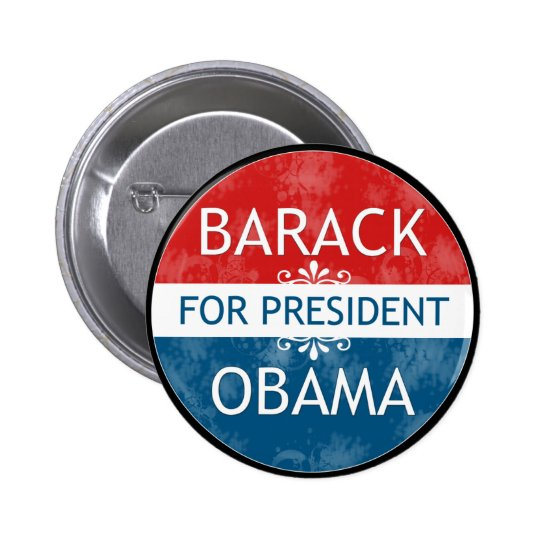 Barack Obama for president pin