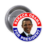 Barack Obama For President Pins