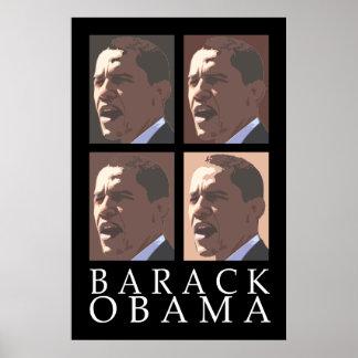 Barack Obama Four Portrait Poster