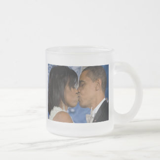 Barack Obama Frosted Glass Coffee Mug