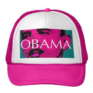 Barack Obama, great pink cap Hat