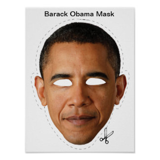 Barack Obama Halloween Mask Poster