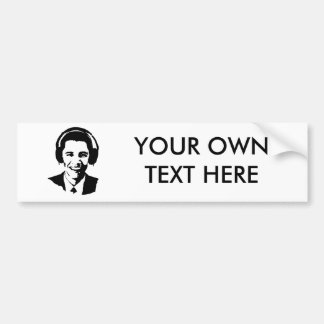 Barack Obama headphones Bumper Sticker
