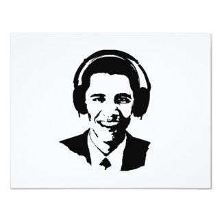 Barack Obama headphones Invitations
