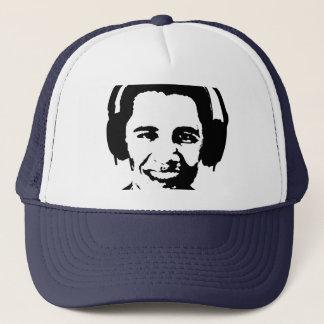 Barack Obama headphones T-shirt Trucker Hat