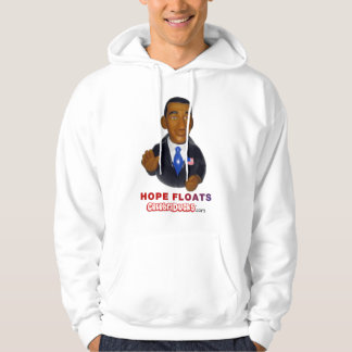 Barack Obama Hope Floats Rubber Duck Hooded Pullovers