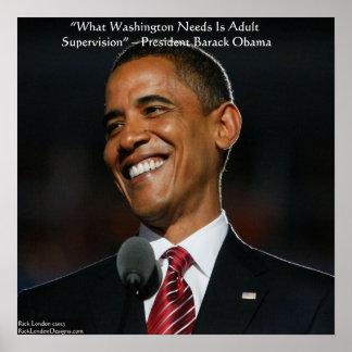 Barack Obama & Humor Quote Poster