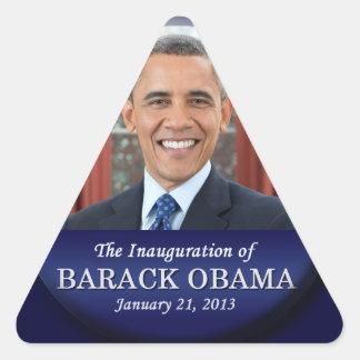 Barack Obama Inauguration 2013 Triangle Stickers